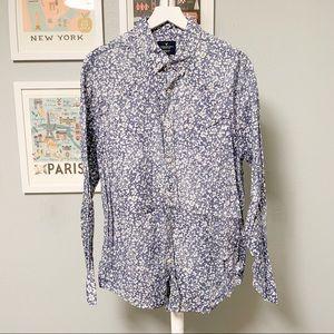 American Eagle Sun Bleached Floral Print Shirt XL